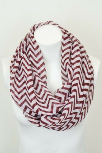 Chevron Stripe Infinity Scarf Spring Summer Fall Light Warm Scarves Choose Color