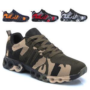 Scarpe-Da-Ginnastica-Uomo-Running-Fitness-Sportive-Corsa-Mimetica-Militare-S5