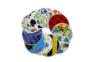 6 (3 pairs) x Washable Reusable 3 Layers Bamboo Nursing Breast Pads Random Pack