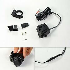 Motorcycle 12V Cigarette Lighter USB Power Socket Charger For Harley CBR R1 R6