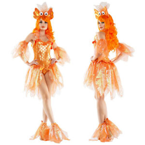 Image is loading Goldfish-Costume-Adult-Funny-Fish-Halloween-Fancy-Dress-  sc 1 st  eBay & Goldfish Costume Adult Funny Fish Halloween Fancy Dress MS10032 | eBay