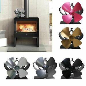 4 Blades Heat Powered Eco Friendly Fuel Saving Wood Burning Stove Top Fan