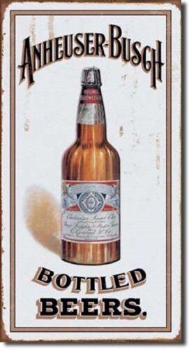 Anheuser-Busch Bottled Beers TIN SIGN metal poster wall decor vtg bar pub 1549