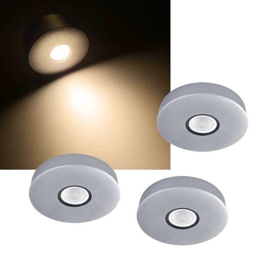 3/6er Ensemble LED Einbau-Aufbau-Leuchten EEK: A + 230V Schrank-Leuchte