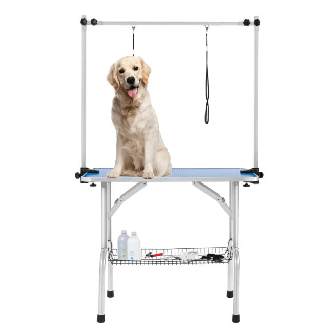 Portable Dog Grooming Table Pet Grooming Beauty Table with Arm, Nose, tray