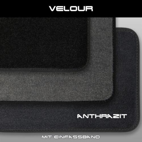 peug clips Velour Fußmatten Peugeot Partner Kasten - Anthrazit 2tlg ab 2008