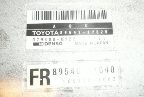 Mr MR2 Used Parts Toyota MR2 MK2 ABS Control Module ECU Relay 89541-17020