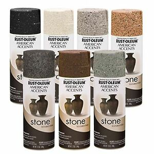 rust oleum american accents stone textured spray paint. Black Bedroom Furniture Sets. Home Design Ideas