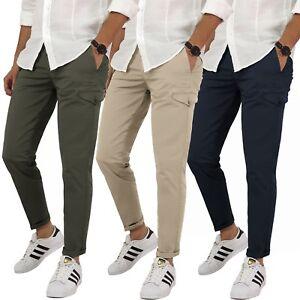 Pantaloni-uomo-cotone-primaverile-estivo-cargo-tasche-america-42-44-46-48-50-52