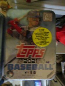 2021 Topps Series 1 MLB Baseball  Tin Trading Cards still sealed random