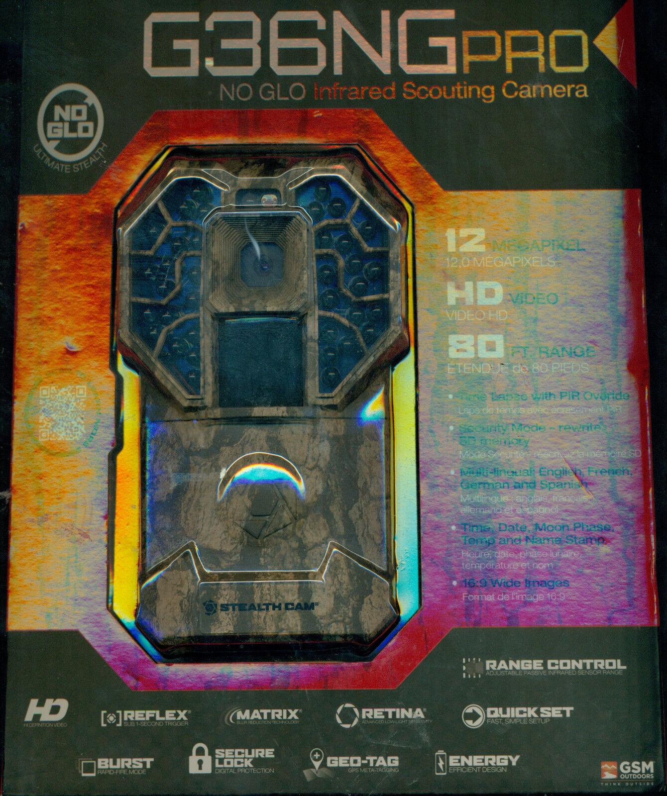 STEALTH CAM G36 No Glo Digital Trail Game Camera (12MP) 80ft Range STC-G36NG