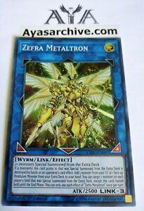 Super Rare EXFO-EN097 English MINT Yugioh Zefra Metaltron 1st Ed