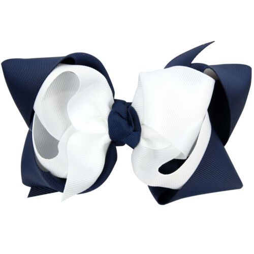 5 inch Double Layer Hair Bow Girls Hair Accessories With Clips Grosgrain Ribbon