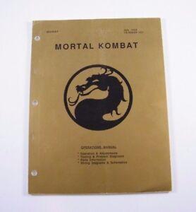 7/1992 Midway Mortal Kombat ~ Operations Manual 16-40025-101 2019 New Fashion Style Online