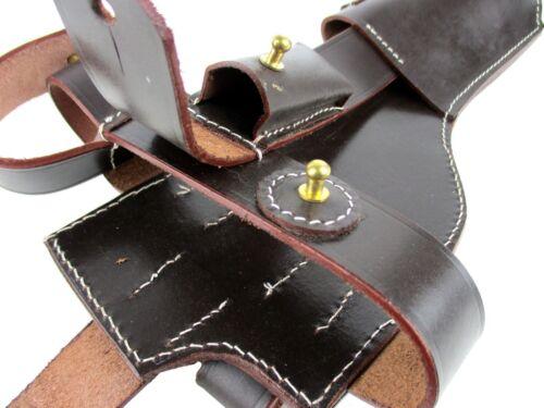 Mauser C96 Holster Anschlagschaft WW2 WWII WWI WW1 Rindleder dunkelbraun