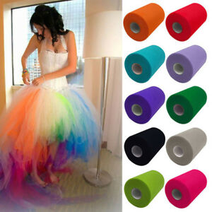 "6"" x 100 Yard Tutu Tulle Roll Soft Netting Craft Fabric for Making Princes Dress"