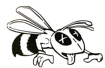 adesivo VESPA BEE sticker decal vynil vinile vetro auto moto miele honey flower