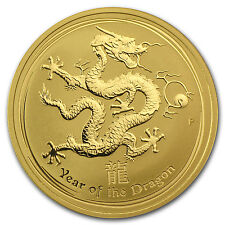 2012 1 oz Gold Australian Perth Mint Lunar Year of the Dragon Coin - SKU #63857