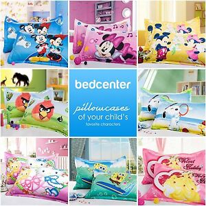 DISNEY-KIDS-PILLOW-CASE-CUSHION-COVER-PAIR-100-COTTON-NEW