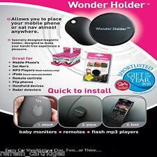 WONDER HOLDER MAGNETIC PHONE SAT-NAV HOLDER STICK ON MOUNT / NO INSTALLATION !!
