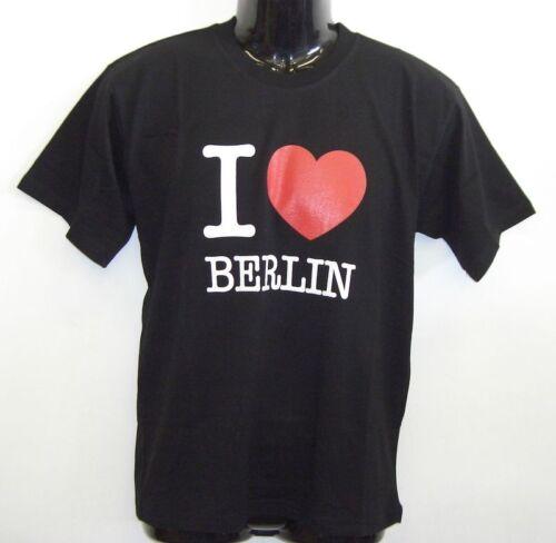 Fun T-Shirt I LOVE BERLIN Schwarz S XXL