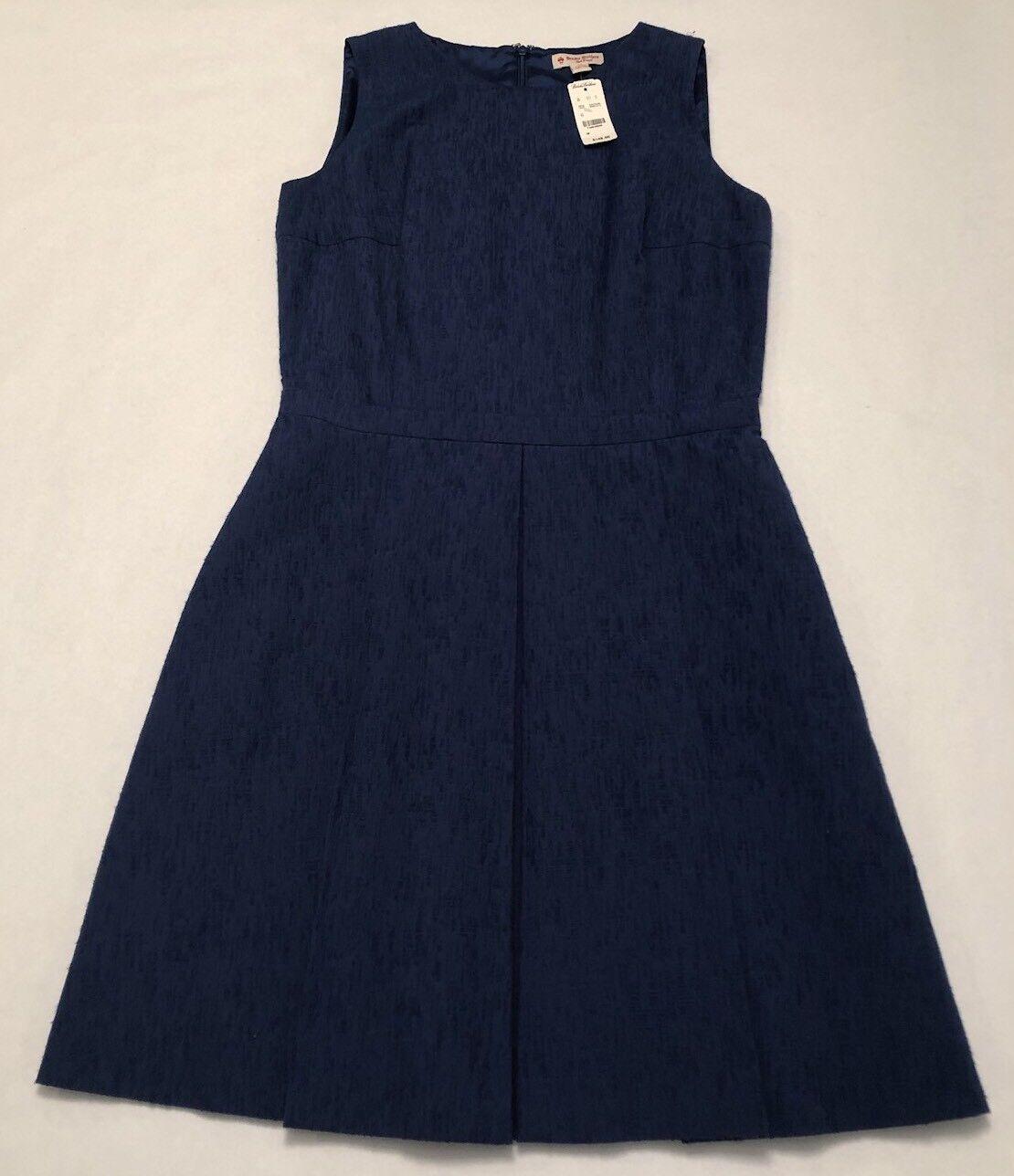 Brooks Bredhers Red Fleece Womens Dress Size 10 Dark bluee Brand New NWT
