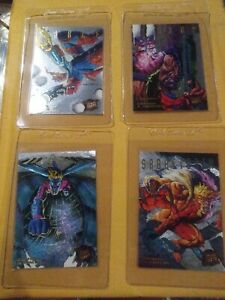 1995-Fleer-X-Men-Hunters-amp-Stalkers-SILVER-LOT-Of-4-Cards