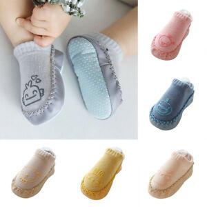Toddler baby girl boy anti-slip boot socks kids baby cartoon warm shoes slipp Yv