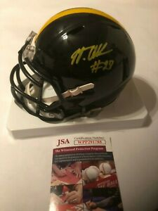 56c9d7af5a2 Image is loading Marcus-Allen-Autographed-Pittsburgh-Steelers -Speed-Mini-Helmet-