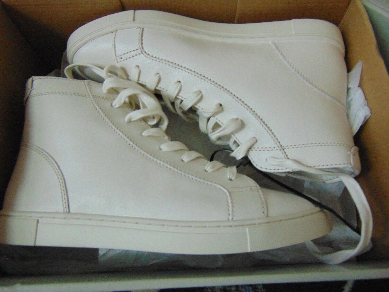 Brand New Frye Wouomo Gemma High bianca scarpe da ginnastica Sz 9M