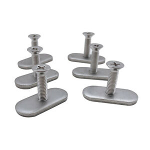 4 Sets Durable Stainless Steel Screws /& Nuts Hardware for Kayak Track// Rail T Zw