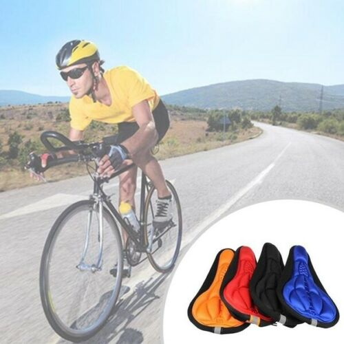 Bicycle 3D Gel Silicone Saddle Seat Cover Pad Padded Soft Cushion Comfort Tool