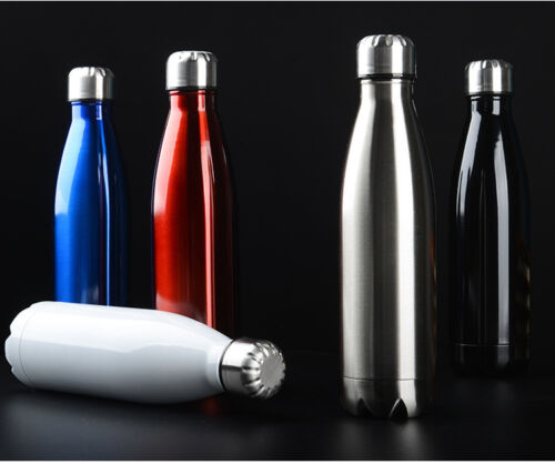 UK Sport Water Bottle Flask Thermos Stainless Steel Double Wall Vacuum Insulated