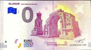 BILLET-0-EURO-GLANUM-SAINT-REMY-DE-PROVENCE-FRANCE-2018-NUMERO-100