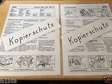 Opel Rekord D 1,9SH-2,0 S Bj.1972-77, Vergasereinstellanleitung Zenit 35/40 INAT
