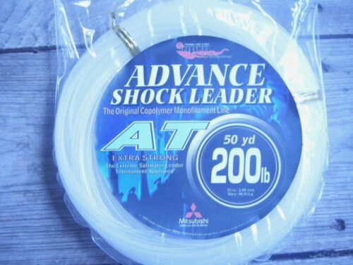 "EUPRO SALTWATER /""AT/"" LEADER LINE 100lb 400lb -50 YARD SPOOL--CLEAR"