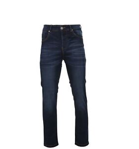 KAM-Men-039-s-Extra-Tall-Stretch-Blue-Washed-Jeans-Marlow-in-Waist-32-to-48-034-L38