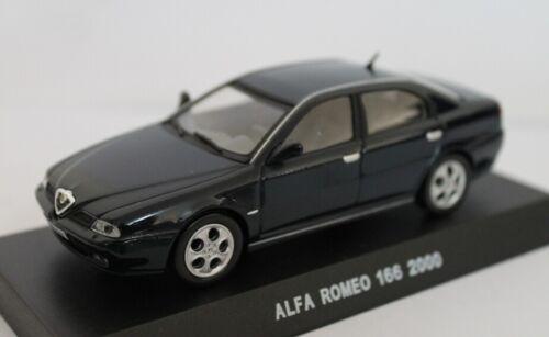 Alfa Romeo 166 2.0 Twin Spark Carabinieri 2000 Blue Edicola 1:43 CARAB047 Model