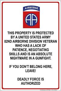 Property-Protected-by-82nd-Airborne-Veteran-U-S-Army-Aluminum-Metal-Sign