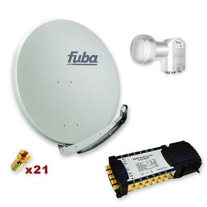 Sat-Anlage-FUBA-85-Digital-SAT-12-Teilnehmer-Multischalter-LNB-FULL-HDTV-Neu