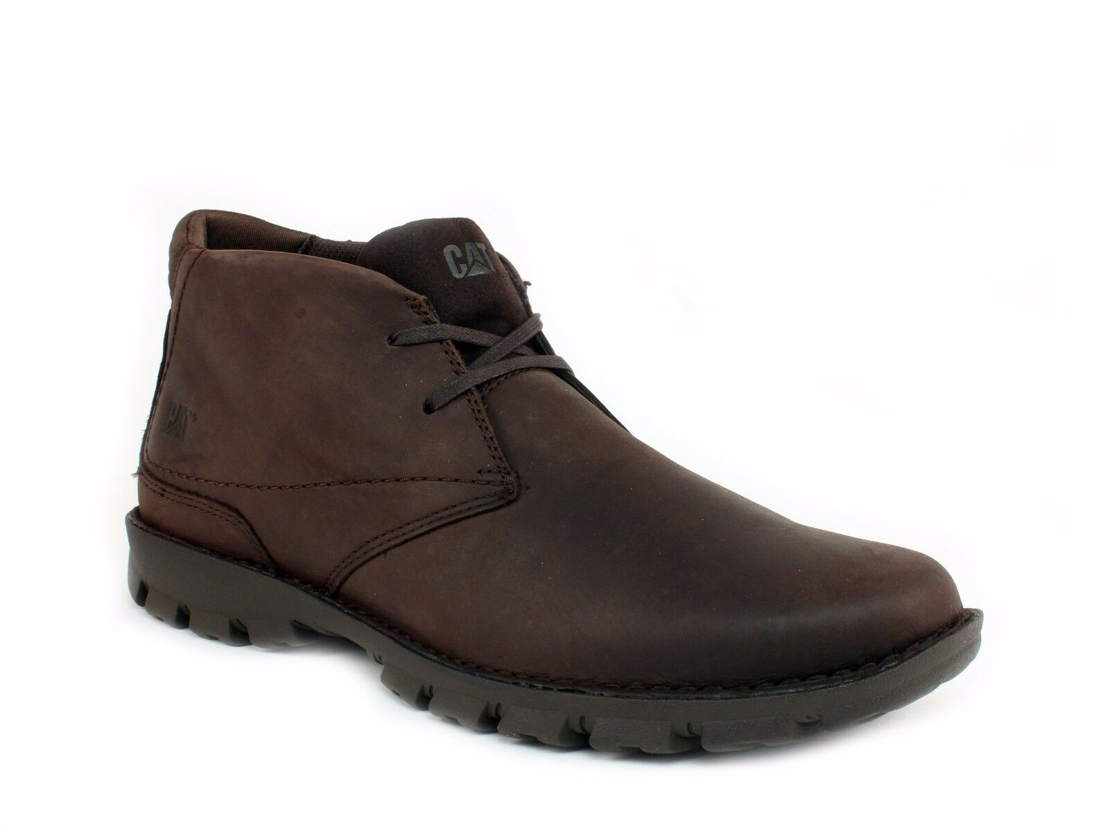 Caterpillar MITCH Mid Cut Mens Slip Resistant Work Casual Chocolate Leather Boot
