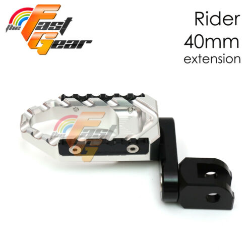 TFG Wide 40mm Riser Front Foot Pegs For Honda CBR 600 RR 07-10 11 12 15