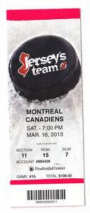 2013-DEVILS-VS-MONTREAL-CANADIENS-FULL-TICKET-STUB-3-16-13-JARRED-TINORDI-DEBUT