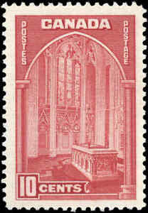 1938-Mint-Canada-F-VF-10c-Scott-241-Pictorial-Issue-Stamp-Hinged