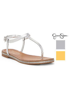 dbe3cced92a Image is loading Jessica-Simpson-Womens-Brimah-T-Strap-Thong-Sandals