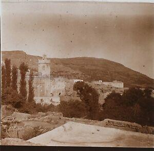 Marocco Bahlil Casa Pacha Foto PL53L1n3 Stereo Placca Da Lente Vintage