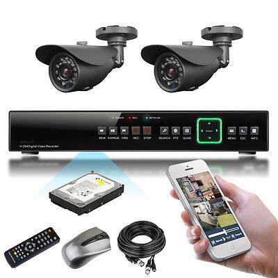 2 x Sony Effio-e CCD 20M IR Outdoor Cloud Home & Business P2P CCTV System 500GB