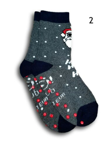 Unisex Boys Girl Children Anti Slip Non Slip Terry Christmas Winter Warm Socks