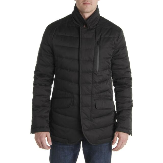92b77eec2e07 Tahari Mens Black Winter Down Warm Quilted Coat Outerwear XL BHFO ...