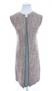 Lavia 18 Piazza Sempione IT 42 US Sz 6 Wool Tweed Shift Dress Layered Sheath